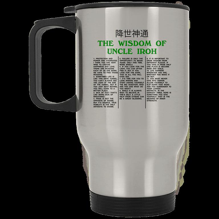 14 oz. Silver Travel Mug