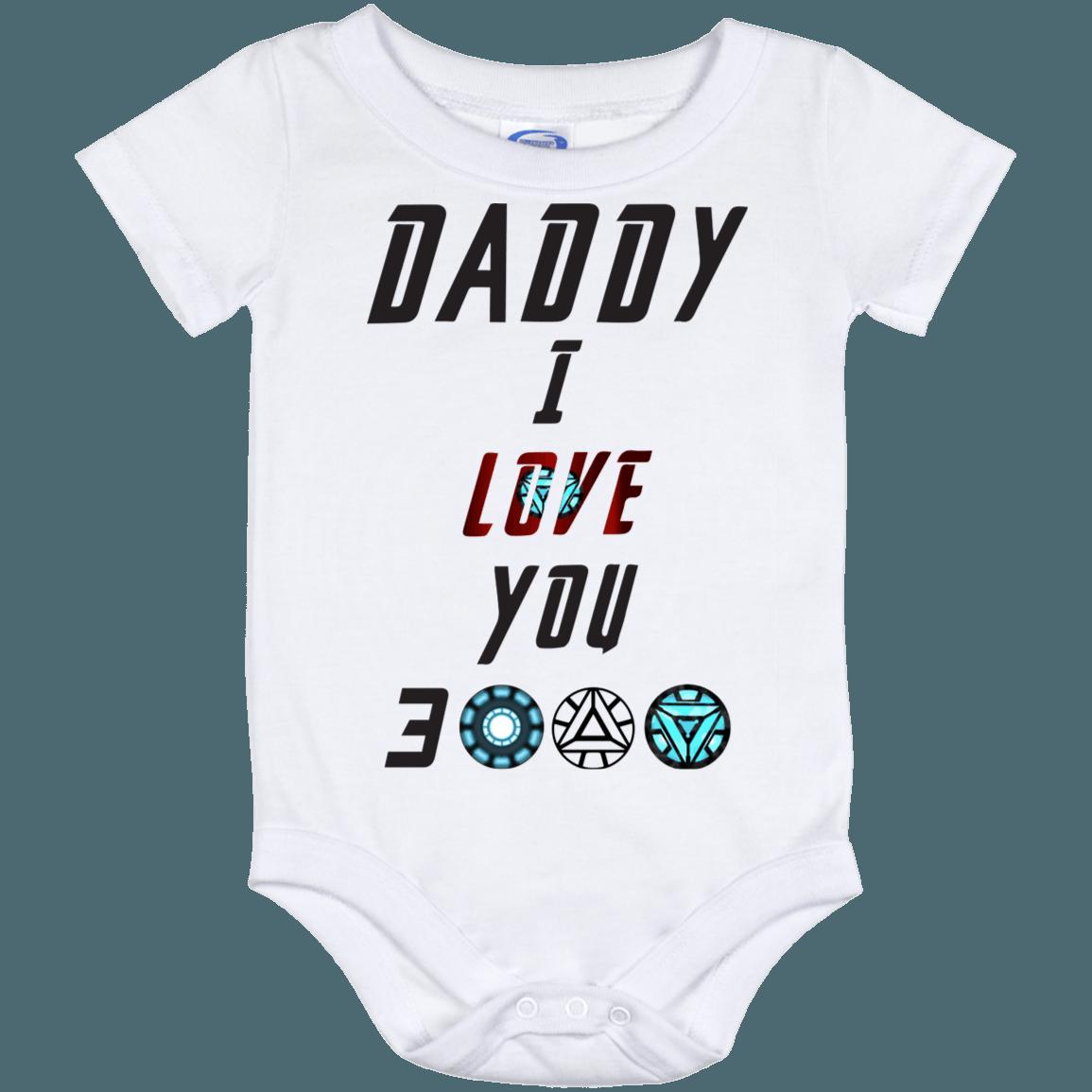 7007d37b Daddy I Love You 3000 Baby Onesie Shirt - Dad I Love You Three Thousand Baby  - CubeBik ™