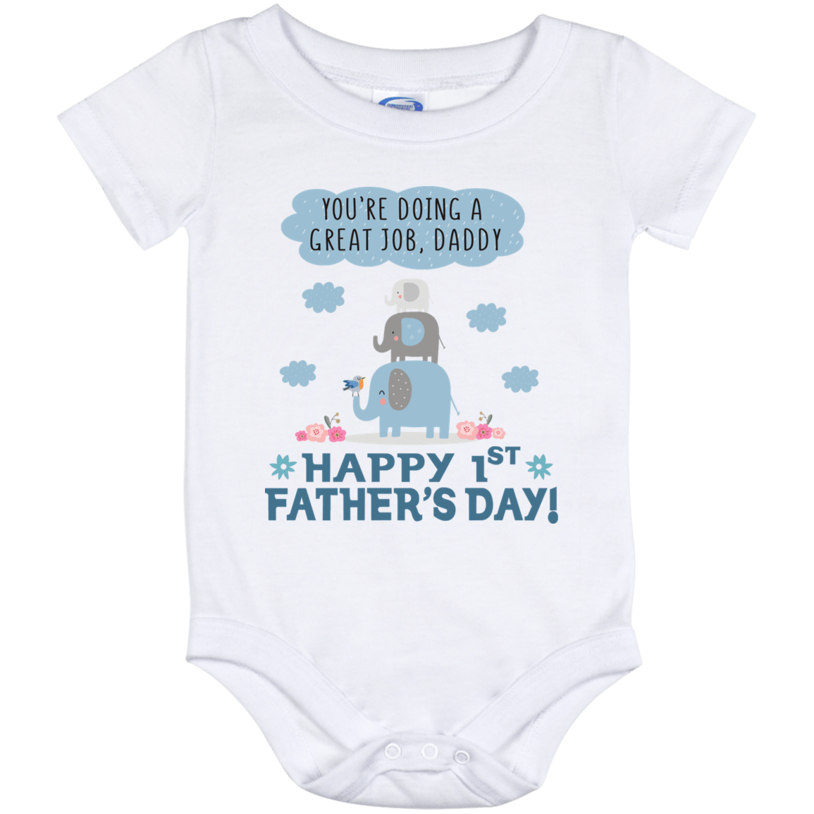 dc8c8696 You're Doing A Great Job Daddy Happy 1st Father's Day Baby Onesie - First  Fathers Day Onesie - Baby Boy Onesie - CubeBik ™