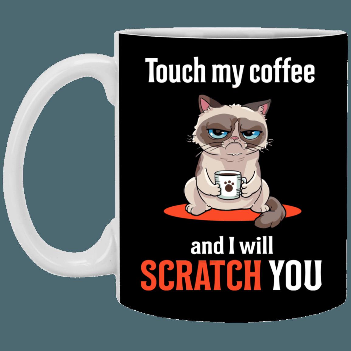5e029e262 I Will Scratching You Funny Grumpy-Cat Ceramic Coffee Mug - Beer Stein  -Water Bottle - Color Changing Mug - CubeBik ™