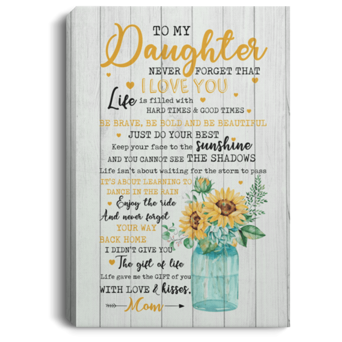 Download To My Daughter Canvas   To My Daughter Never Forget That I ...