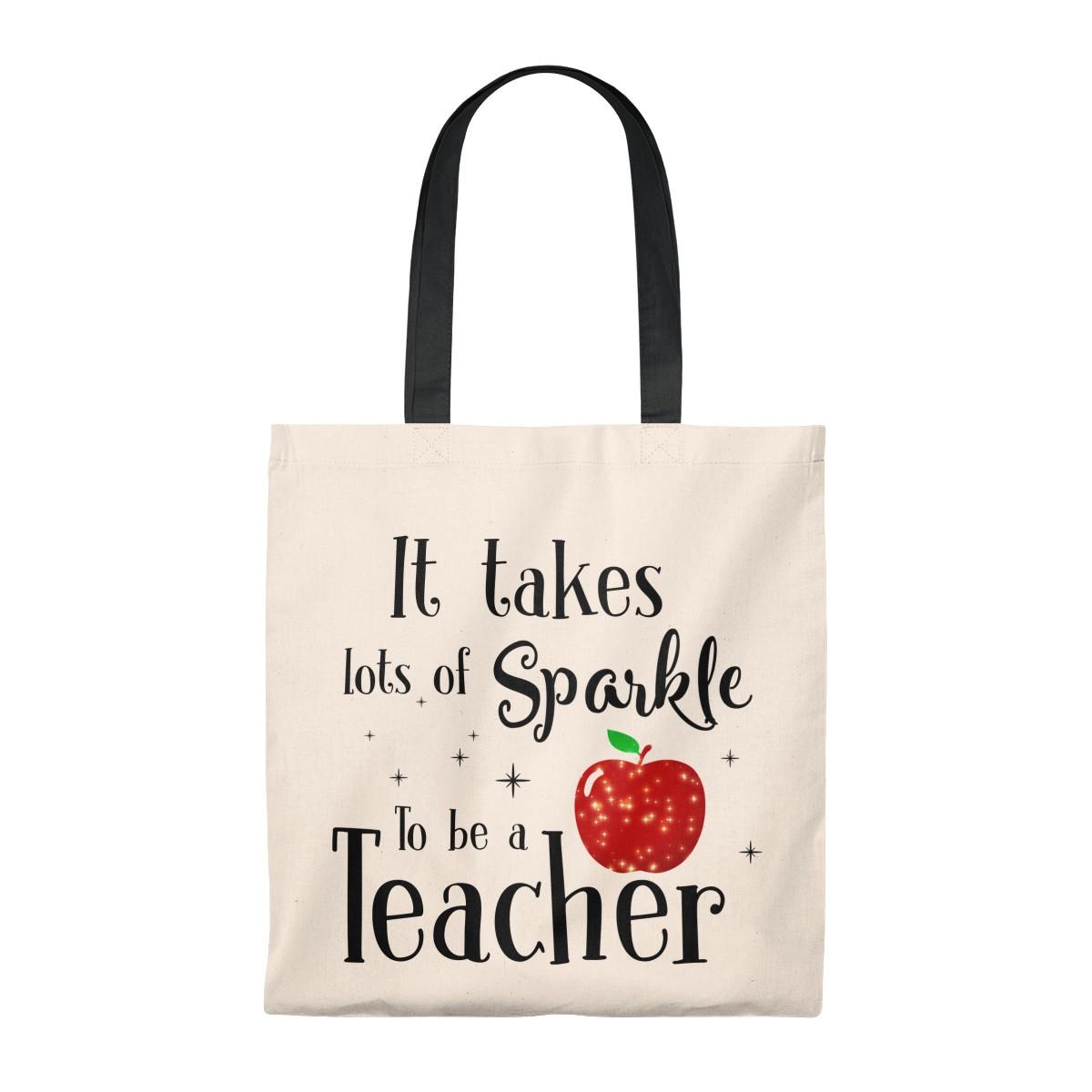 Teacher Tote Bag Teacher Beach tote I Teach Tomorrow/'s Leaders Teacher canvas tote Glitter Beach Bag Teacher Bag grocery tote