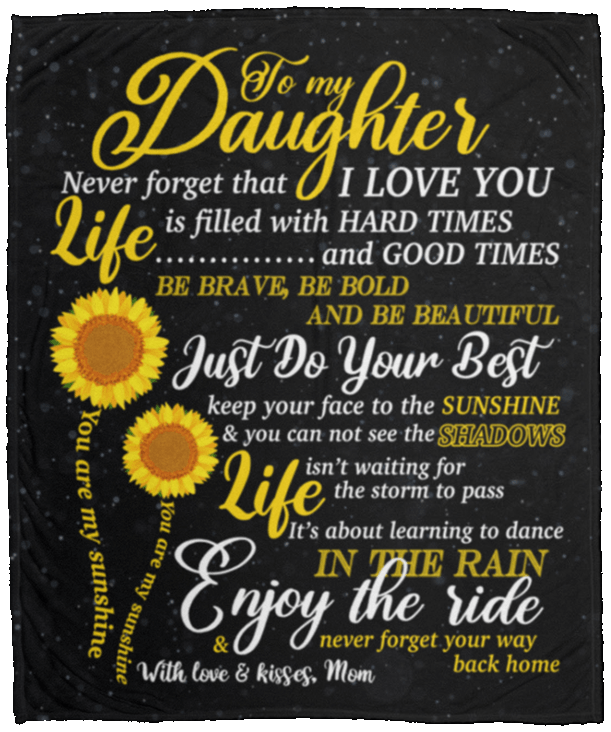 Download You Are My Sunshine Blanket | To My Daughter Never Forget ...