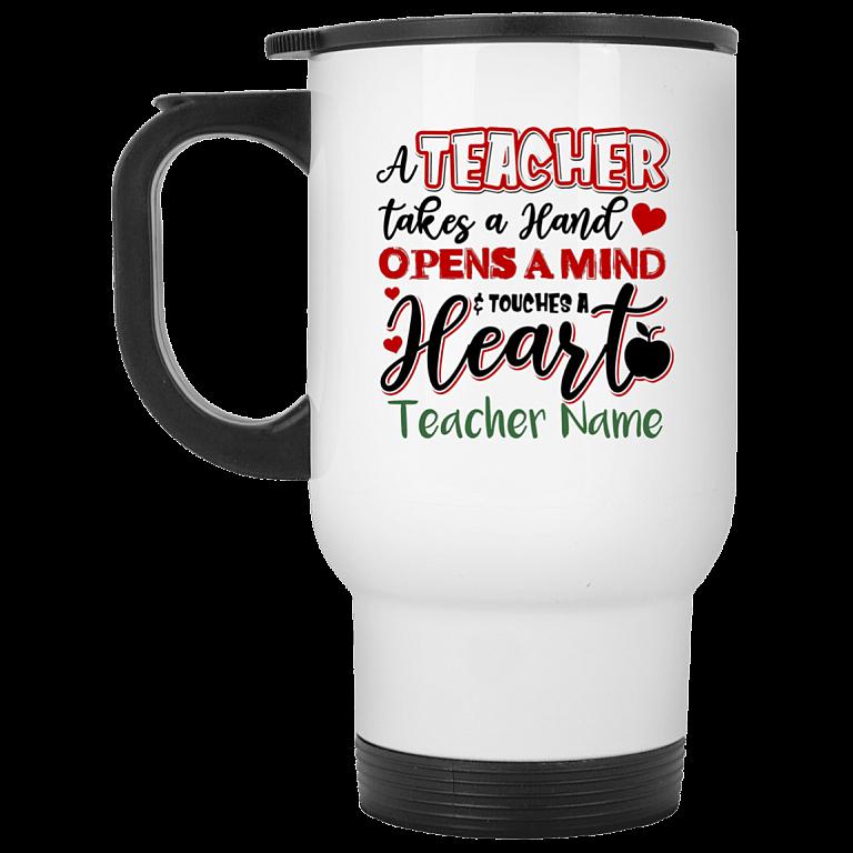 14 oz. White Travel Mug