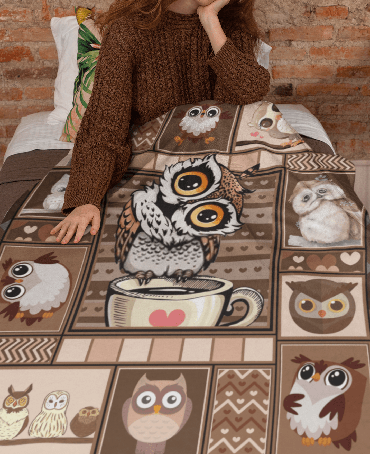 Owl in a Tree Personalized Baby Blanket Fleece or Woven Throw Blanket Satin Edge Fleece Minky Fleece Sherpa Fleece Fleece Woven