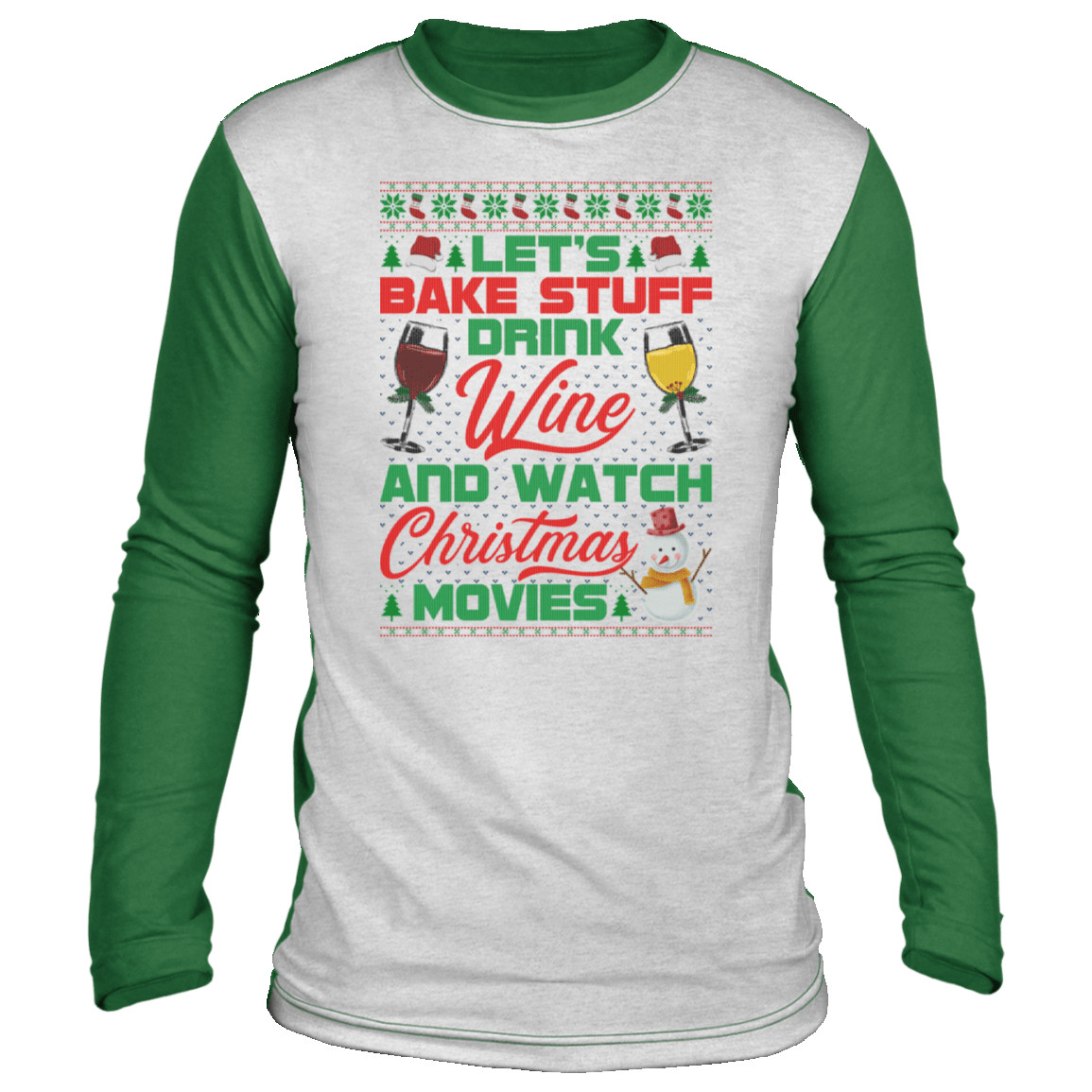 Drinking Ugly Christmas Sweater Long Sleeve