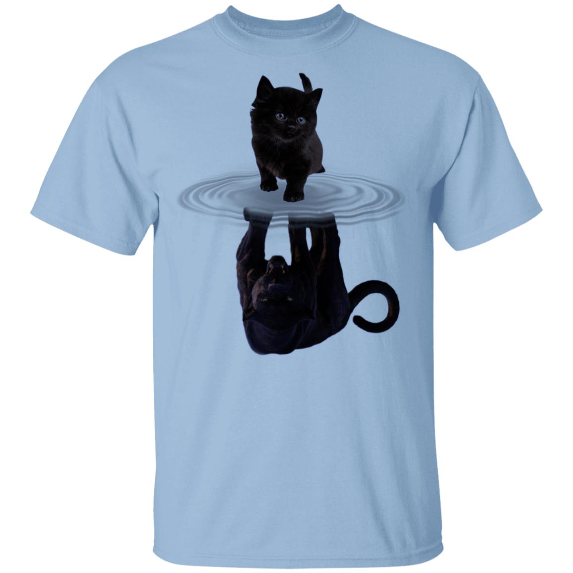 Hipster Fun Black Cat Falling Down T Shirts Breathable Cotton T-shirt