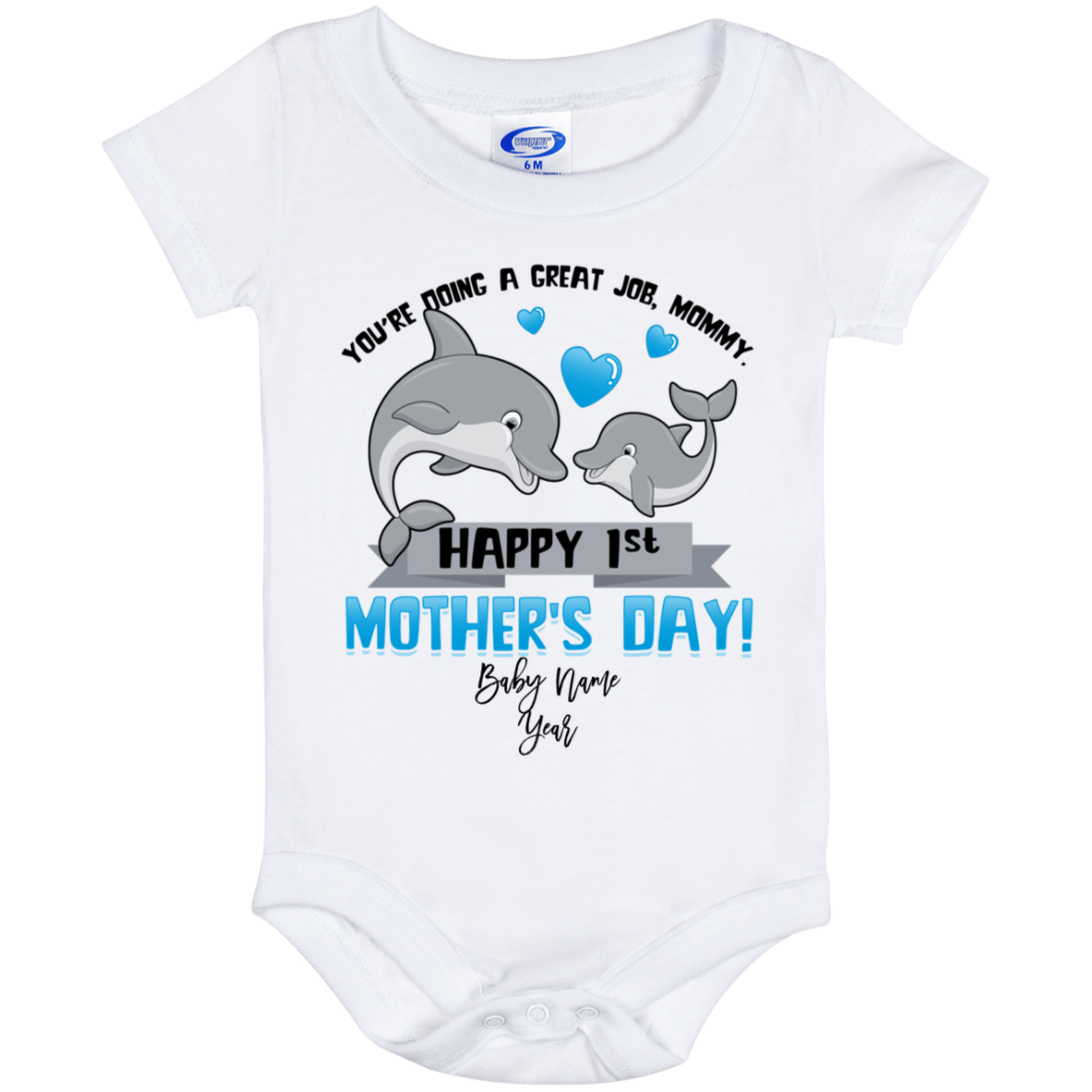 GREAT NAMED GIFT FOR ANY CHILD DOLPHIN PERSONALISED SUBLIMATION KIDS T-SHIRT
