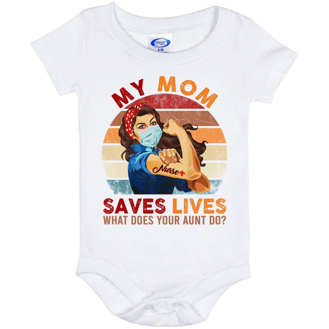 My mom saves lives nurse pandemic 2020 nurse pregnancy reveal baby onesie\u00ae pandemic pregnancy announcement boy bodysuit girl bodysuit
