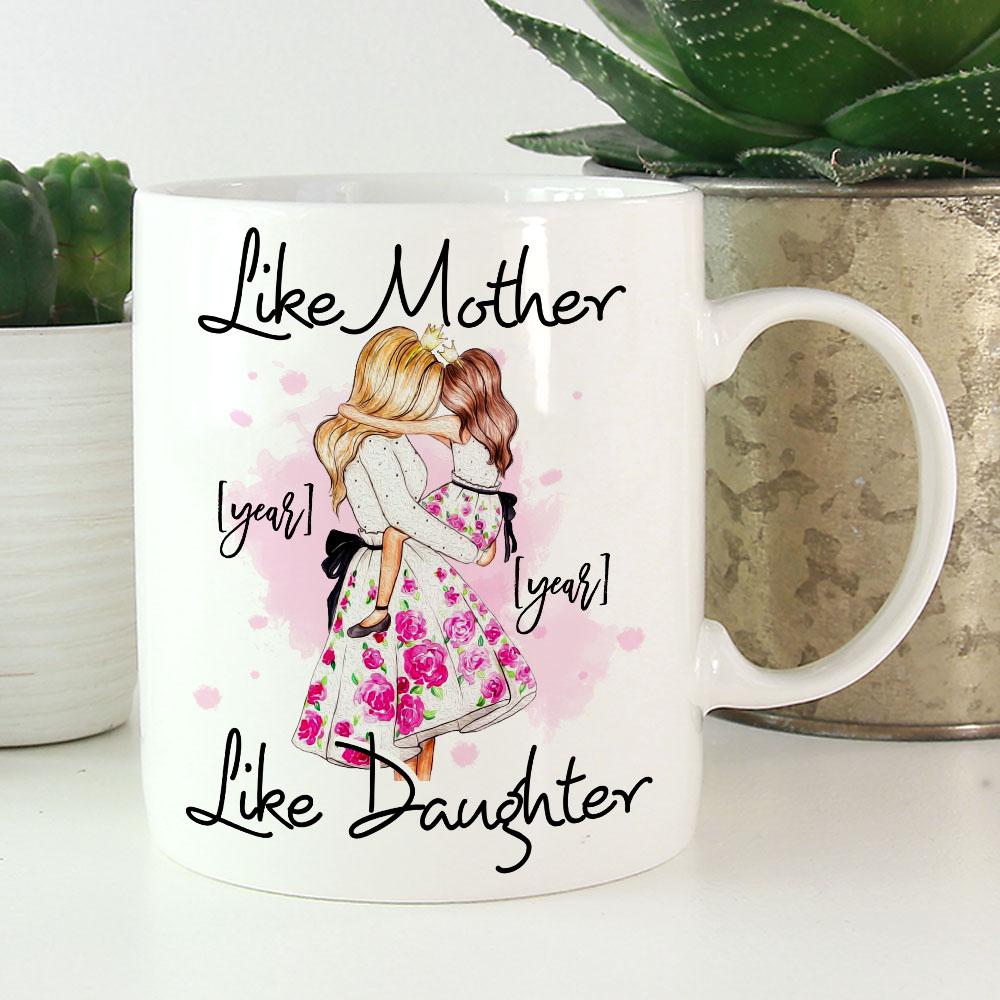 Like Mother Like Daughter Personalized Matching Mom Daughter Ceramic Coffee  Mug   Beer Stein   Color Changing Mug   CubeBik