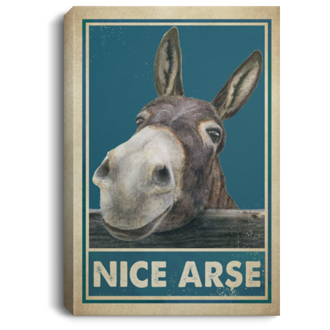 Donkey Nice Arse Poster Vintage Donkey Nice Arse Canvas Cubebik