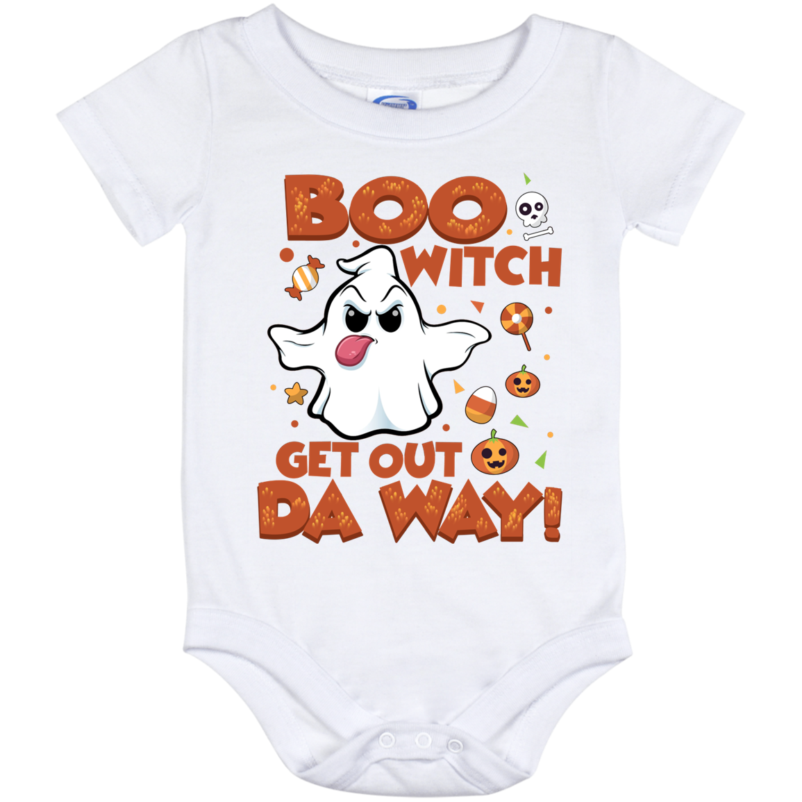 Infant Bodysuit Halloween Ghosts