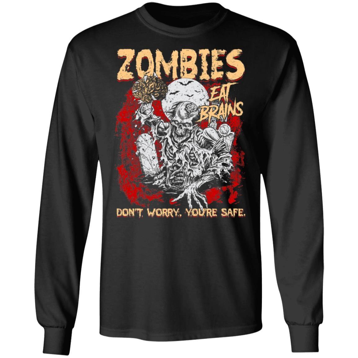 Halloween Hoodie Sweatshirt Do Not Eat Zombie Friendly