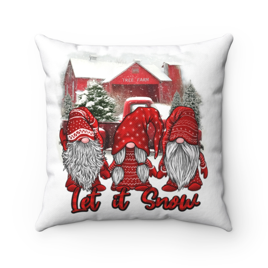 Picture of: Gnome Christmas Pillows Let It Snow Christmas Funny Gnomes Nordic Throw Pillow Cubebik