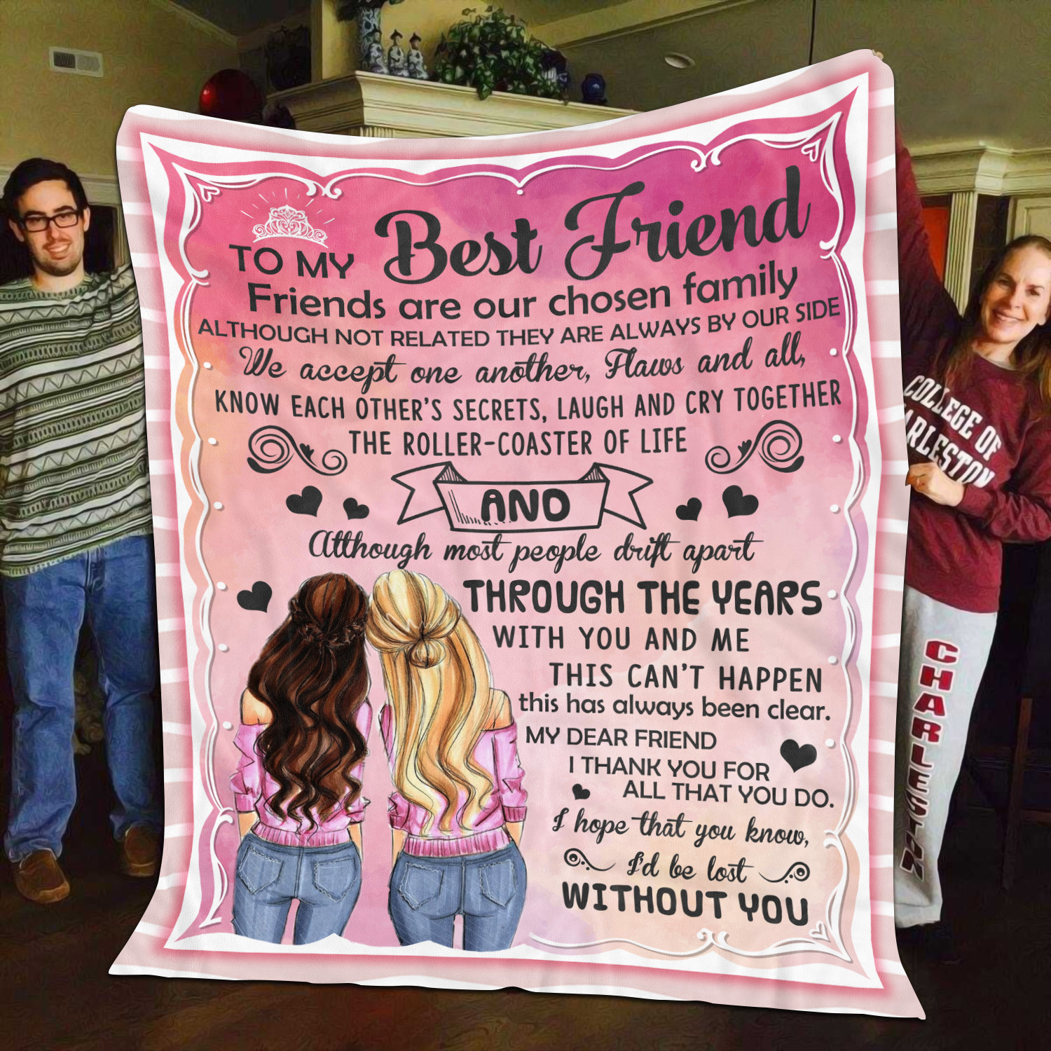 To My Best Friend My Dear Friend I Thank You for All That You Do Fleece Blanket
