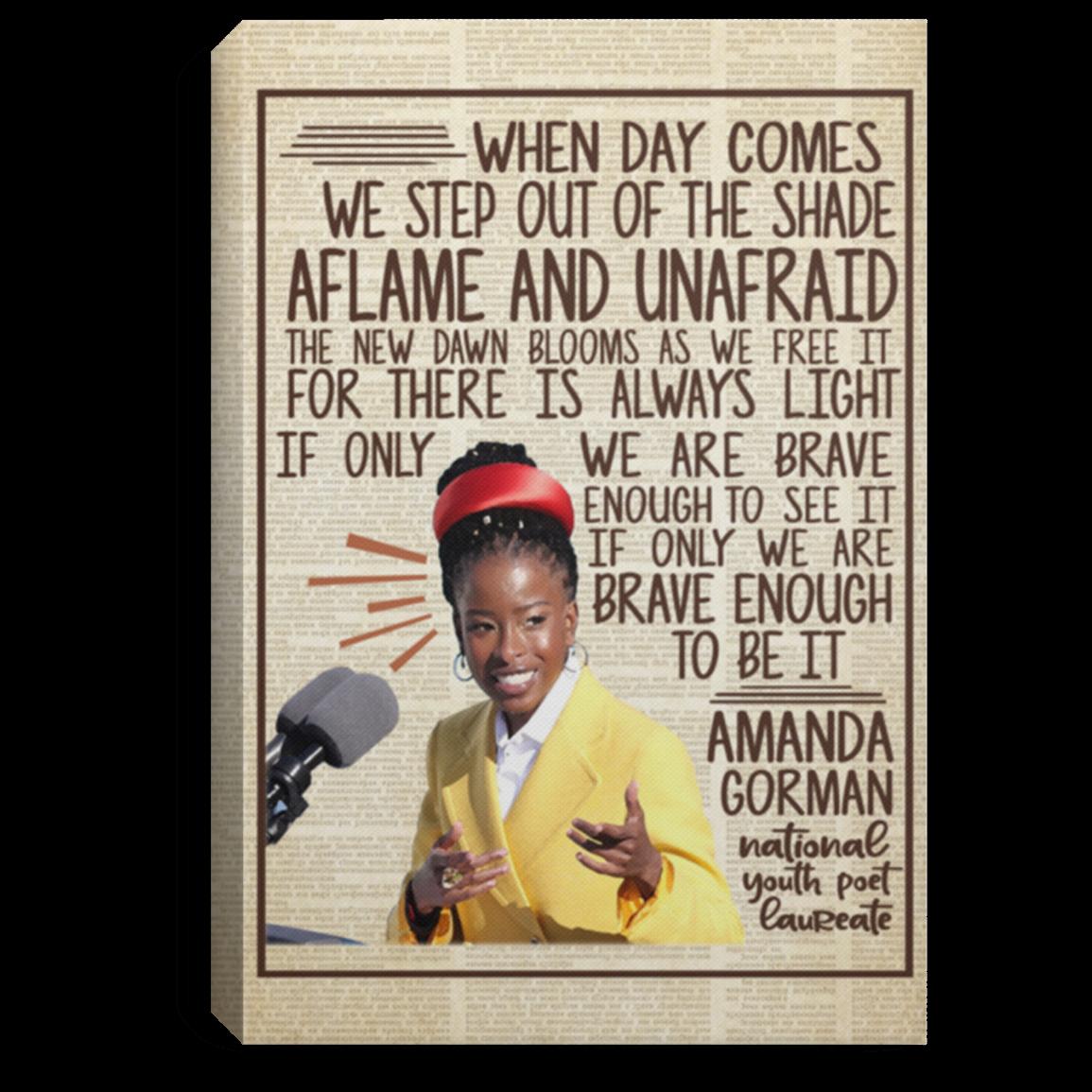 Amanda Gorman Poster Inauguration Poem 2021 Poster Amanda Gorman Feminist Women Rights Print TDP20 Amanda Gorman The Hill We Climb Poster