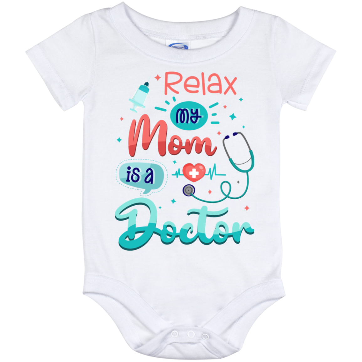 I/'m Proof Mommy Can/'t Resist Doctors Onesie Funny Baby Bodysuit